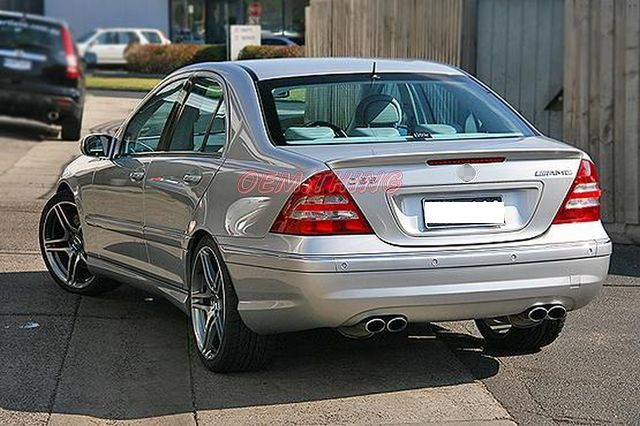Mercedes benz w203 c class a type rear trunk spoiler 2007 for Mercedes benz gas type